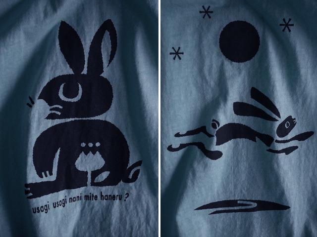 hinolismo迷えるTシャツ-ウサギウサギ 何みて跳ねる