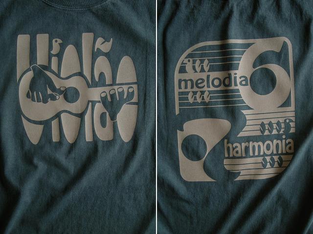 ヴィオロン(ギター)6弦と7弦Tシャツ-Melodia e Harmonia-hinolismo-迷えるアイミドリ