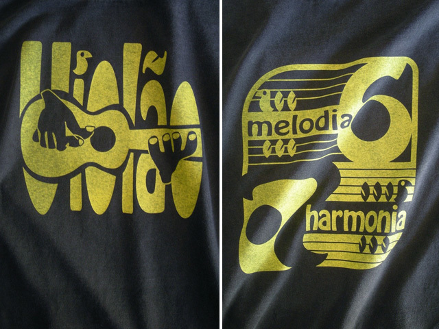 Violao 6 e 7-ヴィオロン6と7Tシャツ-Melodia e Harmonia-hinolismo-迷えるブラック