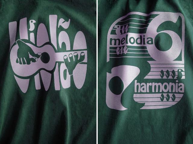 ヴィオロン6弦と7弦Tシャツ-hinolismo-迷えるグリーン