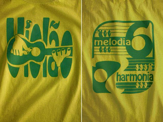 ヴィオロン(ギター)6弦と7弦Tシャツ-Melodia e Harmonia-hinolismo-迷えるマスタード