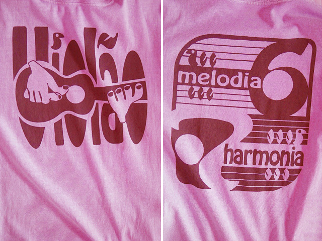 hinolismo迷えるTシャツ-ピンク-ヴィオロン6弦と7弦-Melodia e Harmonia